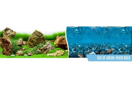 Fundal PVC pentru acvariu Sea of Green / River Rock