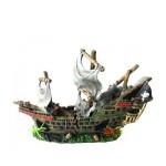 Decor acvariu Nava de pirati - 2 piese