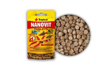 Hrana vitala pentru pesti Tropical Nanovit tablets 10 g/70 tab.